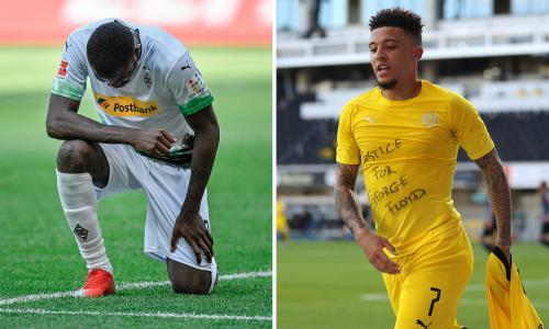 Marcus Thuram and Jadon Sancho both pay tribute to George Floyd after scoring