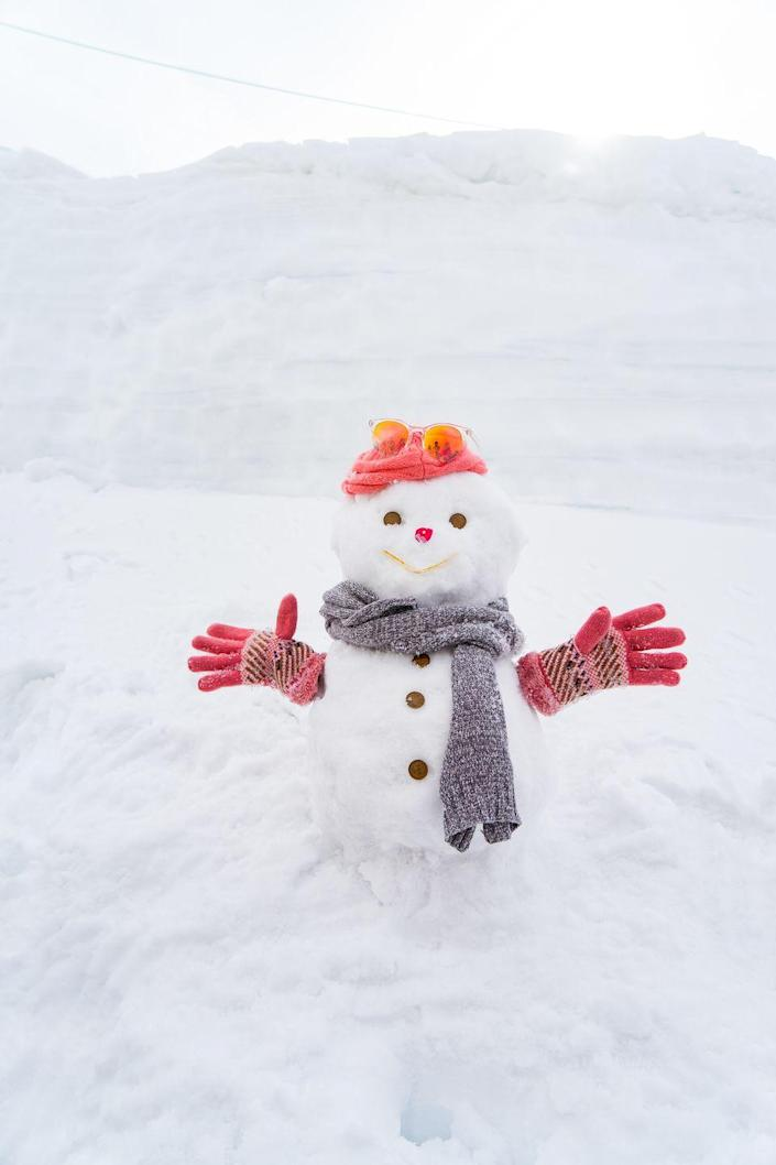 """<p>Split your friends into teams, and have each team wrap one member in rolls of toilet paper to transform them into a snowmen, says Moss. Then each team can jazz up their """"snowman"""" with accessories and any other fun props they find hanging around. The most ridiculous one wins! </p>"""