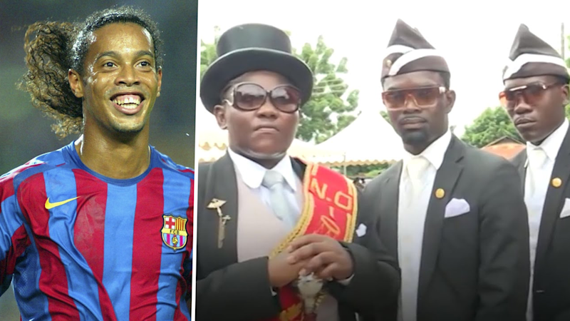 'Coffin dance' pallbearer picks Ronaldinho as the footballer he would like to carry to their grave