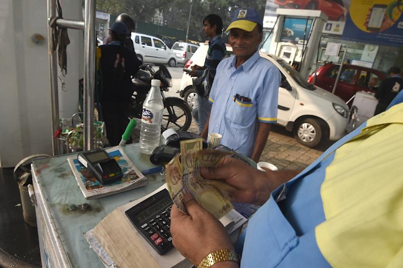 Cash accounts for 90 percent of transactions in India where millions rely heavily on notes for their daily transactions