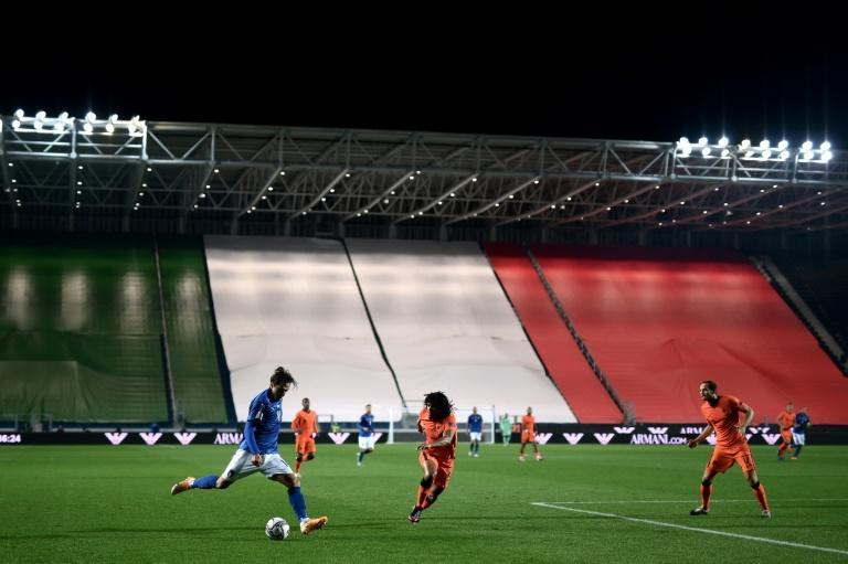The match in Bergamo was played in tribute to a region hard-hit by coronavirus.