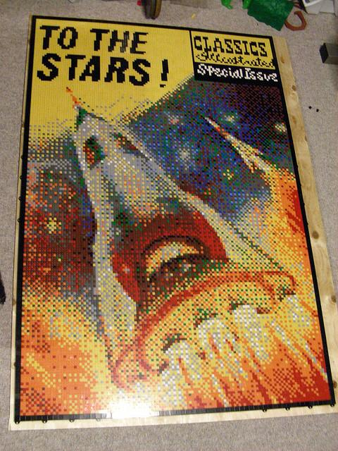 To the Stars! Lego Mosaic by Dave Ware, winner Best Mosaic BrickCon 2009
