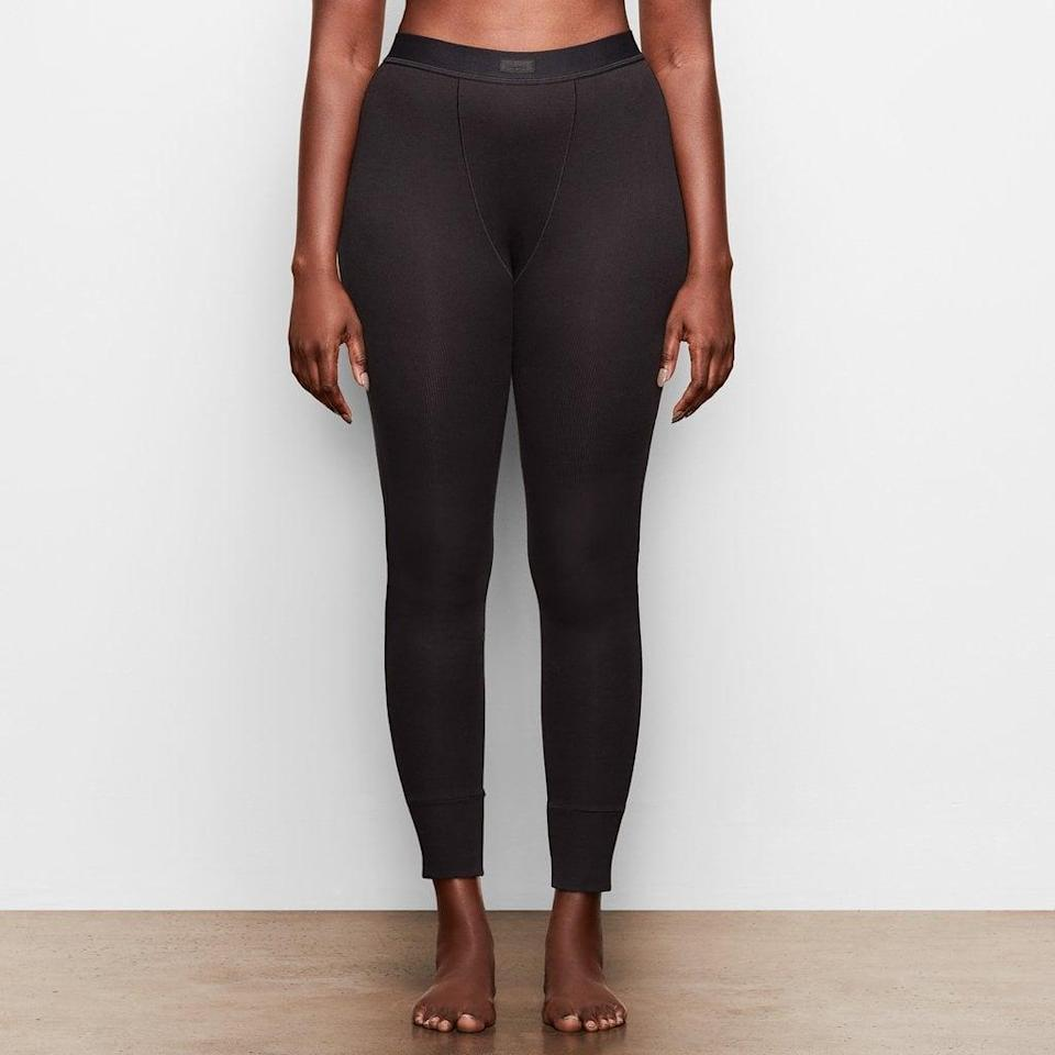 <p>We'll definitely be adding a pair of the <span>SKIMS Cotton Rib Thermal Leggings</span> ($54) to our cart - in all three colors.<br></p>