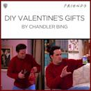 """<p>Chandler embodies all of us, especially with our pathetic (but admirable) attempts at <a href=""""https://www.goodhousekeeping.com/holidays/valentines-day-ideas/g526/homemade-valentines-day-gifts/"""" rel=""""nofollow noopener"""" target=""""_blank"""" data-ylk=""""slk:DIY Valentine's Day gifts"""" class=""""link rapid-noclick-resp"""">DIY Valentine's Day gifts</a>. </p><p><a href=""""https://www.instagram.com/p/Be5y9bQAhJg/?utm_source=ig_embed&utm_medium=loading"""" rel=""""nofollow noopener"""" target=""""_blank"""" data-ylk=""""slk:See the original post on Instagram"""" class=""""link rapid-noclick-resp"""">See the original post on Instagram</a></p>"""
