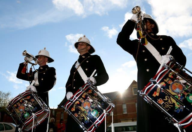 Buglers of the Royal Marines