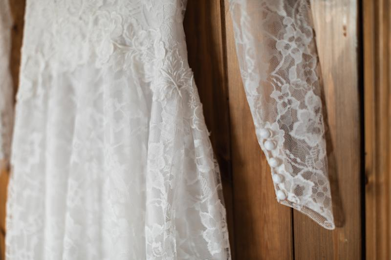 The dress had intricate lace detailing, making it look worth a lot more than just £35. [Photo: Jack Cook Photography]