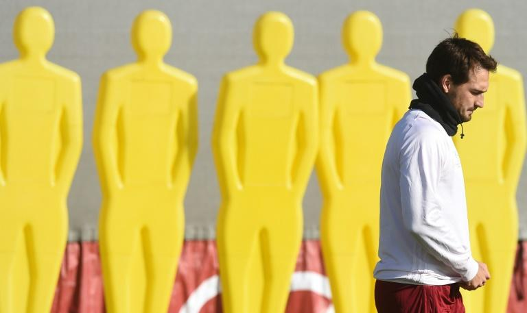 Bayern Munich's defender Mats Hummels arrives for the final team training  in Munich, southern Germany, on February 14, 2017, on the eve of the UEFA Champions League round of sixteen match between FC Bayern Munich and Arsenal London