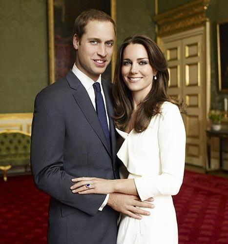Others compared Meghan's expensive gown to Kate Middleton's thrifty fashion. Here she is pictured with Prince William for their official engagement shoot in 2010. Photo: Mario Testino