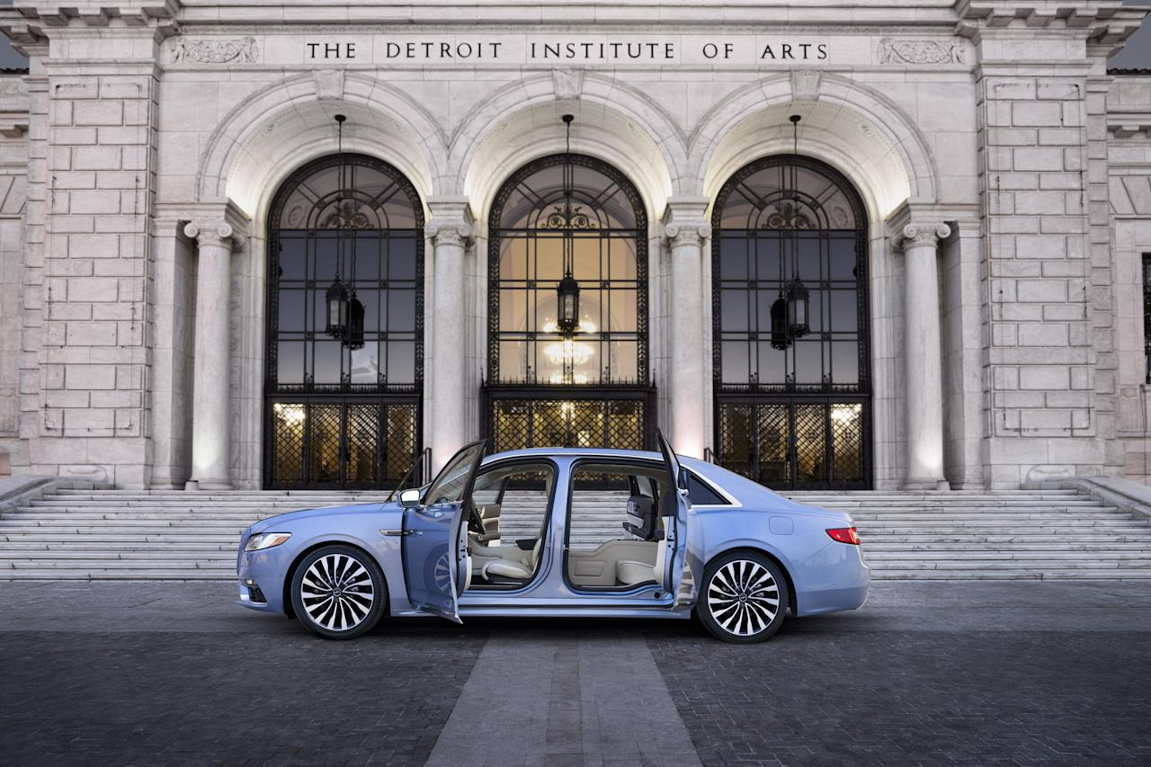 """<p>Lincoln would prefer that you associate <a rel=""""nofollow"""" href=""""http://caranddriver.com/lincoln/continental"""">its modern-day Continental</a> with the elegant luxury flagship sedan of the 1960s rather than, say, the Ford Taurus–based Continental from the 1990s. So it's attempting to make the historic link a bit stronger with a new limited-run Continental Coach Door Edition with center-opening """"suicide"""" doors reminiscent of the iconic 1961 Continental. This limited-run model for 2019 also ties in with the 80th anniversary of the Continental nameplate, which originated in 1939 as the name for a one-off personal car created for Edsel Ford.</p>"""