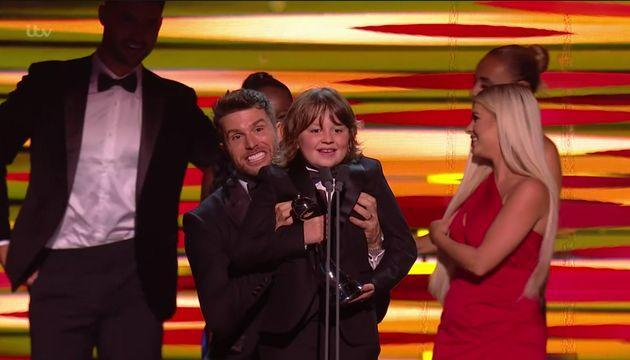 Jude Riordan was awarded Best Newcomer at the NTAs (Photo: ITV)