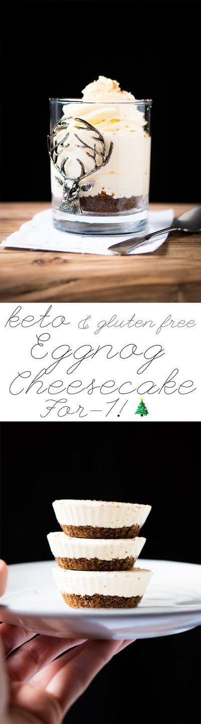 """<p>Get your 'nog fix year-round with these easy (and super cute) cheesecake cups, which just so happen to be keto. </p><p><a class=""""link rapid-noclick-resp"""" href=""""https://www.gnom-gnom.com/no-bake-keto-eggnog-cheesecake/"""" rel=""""nofollow noopener"""" target=""""_blank"""" data-ylk=""""slk:GET THE RECIPE"""">GET THE RECIPE</a></p><p><em>Per serving: 305 calories, 31 g fat (16 g saturated), 3 g carbs, 216 mg sodium, 0.5 g fiber, 2 g sugar, 3 g protein</em></p>"""