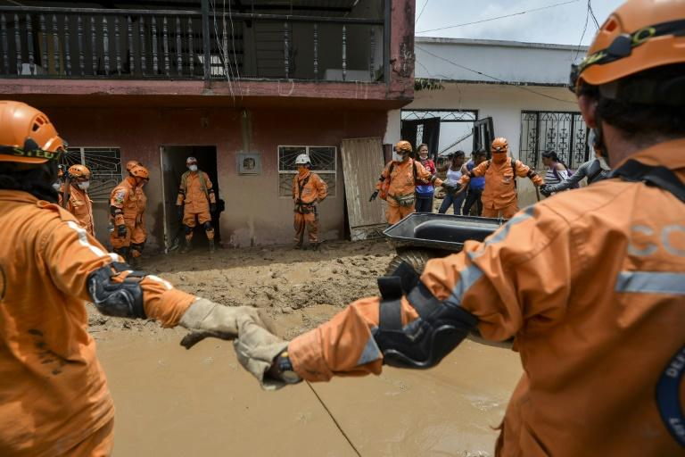 Members of Colombian civil defense teams are continuing a search for victims of the Mocoa mudslide