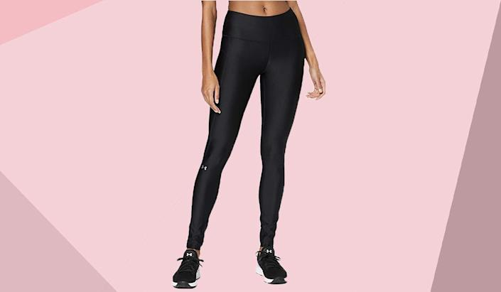 Save 30 percent on these high-waisted leggings. (Photo: Amazon)