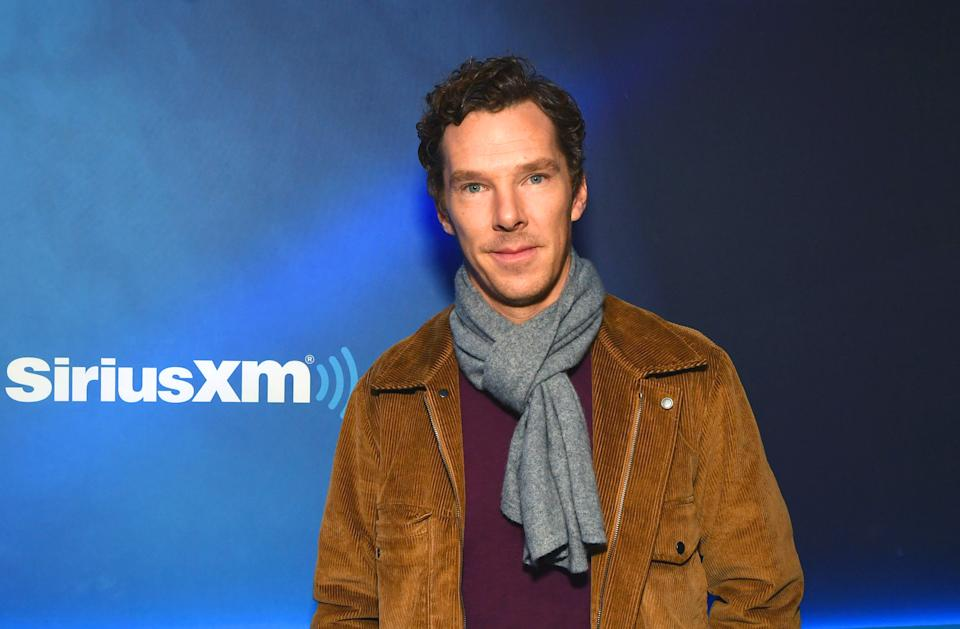 NEW YORK, NEW YORK - OCTOBER 22: (EXCLUSIVE COVERAGE) Benedict Cumberbatch visits Morning Mash Up at SiriusXM Studios on October 22, 2019 in New York City. (Photo by Slaven Vlasic/Getty Images)