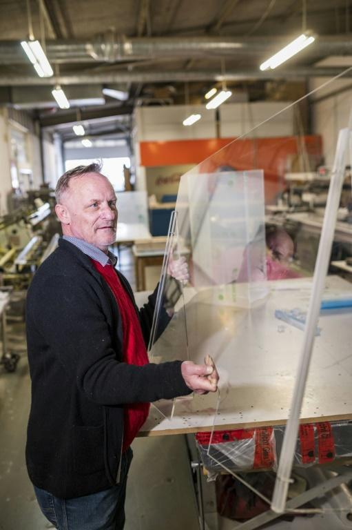 For some firms, the virus has brought a huge upsurge in business -- Claus Mueller's plexiglass manufacturer Riesner says in the early weeks of the crisis demand was higher than the company could handle