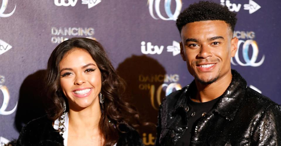 Nelson with his Dancing on Ice partner Vanessa Bauer. (PA Images)