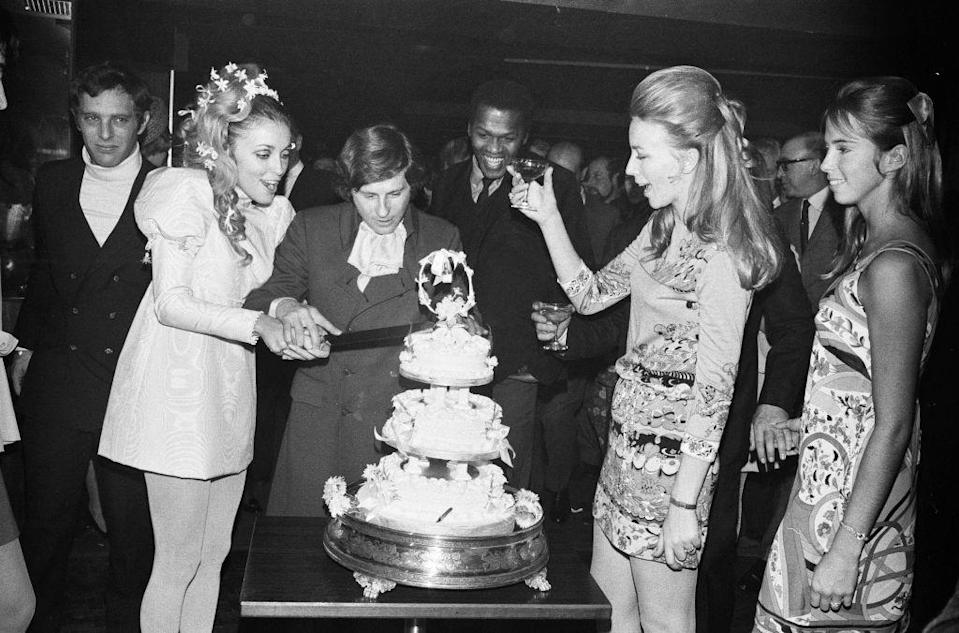 <p>Sharon Tate met Roman Polanski on the set of <em>The</em> <em>Fearless Vampire Killers</em>—she was the lead actress, he was the director—and in 1968 they got married at a registrar's office in London, with a reception at the Playboy Club afterward.</p>