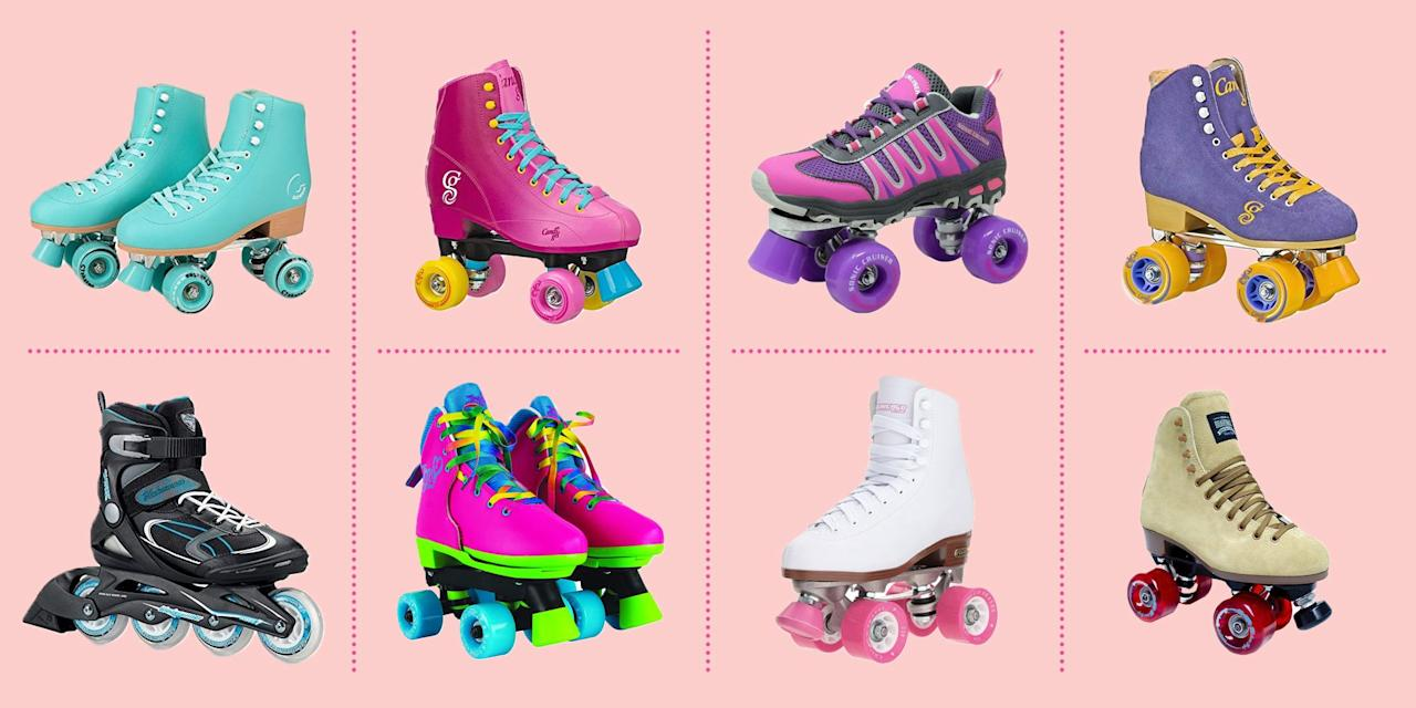 """<p>In fitness and in fashion, everything old is <em>new</em> <em>again</em> at some point — and it seems that roller skates are no exception. You may remember gleefully pushing and plodding your way around the neighborhood in a pair of suped-up skates as a child, but roller skates are making a major comeback among adults; turns out, the sales of some skates <a href=""""https://www.insidehook.com/article/health-and-fitness/rollerblading-comeback-coronavirus"""" target=""""_blank"""">are up more than 700%</a> year over year. Skating freely down the street is a better alternative than heading to a gym (<a href=""""https://www.goodhousekeeping.com/health/a32676067/coronavirus-is-it-safe-to-go-gyms-exercise/"""" target=""""_blank"""">especially right now</a>), but roller skates are becoming more popular also because skating <a href=""""https://www.goodhousekeeping.com/health/fitness/a31478709/home-workout/"""" target=""""_blank"""">is a great way to get your heart pumping</a>.</p><p>Whether you live in an area where cool fall weather is fast approaching, or summer skies never fade, heading outside on a pair of skates can help <a href=""""https://www.goodhousekeeping.com/health/fitness/a31792038/coronavirus-live-stream-workout-classes/"""" target=""""_blank"""">keep yourself active during the novel coronavirus pandemic</a>. The U.S. Department of Health and Human Services' <a href=""""https://www.hhs.gov/fitness/be-active/physical-activity-guidelines-for-americans/index.html#:~:text=For%20substantial%20health%20benefits%2C%20adults,or%20an%20equivalent%20combination%20of"""" target=""""_blank"""">guidelines</a> suggest that adults get in at least 150 minutes of moderately intense aerobic physical activity, if not more — and skating is a great way to get started, says <strong><a href=""""https://www.goodhousekeeping.com/author/224673/stefani-sassos/"""" target=""""_blank"""">Stefani Sassos, MS, RD, CDN</a>,</strong> a registered dietitian in the <a href=""""https://www.goodhousekeeping.com/institute/"""" target=""""_blank"""">Good Housekeeping Institute</"""