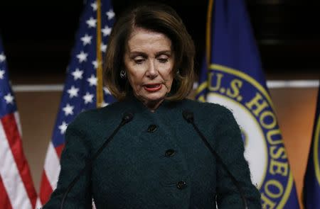 House Minority Leader Pelosi holds weekly news conference at the U.S. Capitol in Washington
