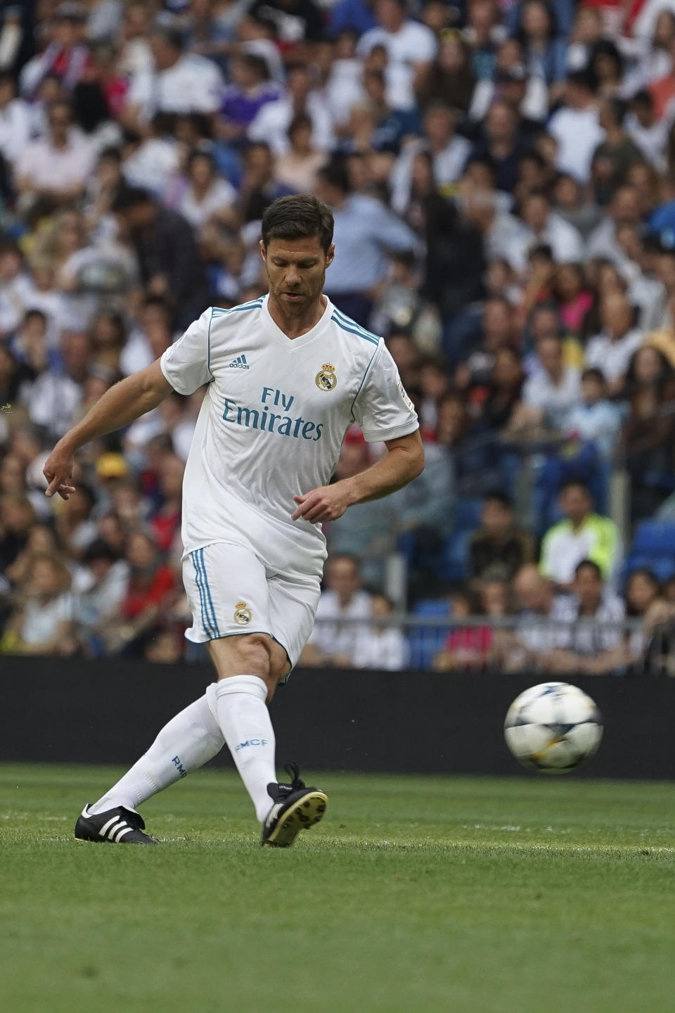 Xabi Alonso  of Real Madrid Legends during the Corazon Classic match between Real Madrid Legends and Asenal Legends at Estadio Santiago Bernabeu on June 3, 2018 in Madrid, Spain. (Photo by Oscar Gonzalez/NurPhoto via Getty Images)