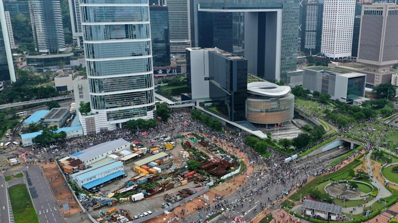 Hong Kong riot suspect in court in connection with extradition bill protest outside Legislative Council complex in June