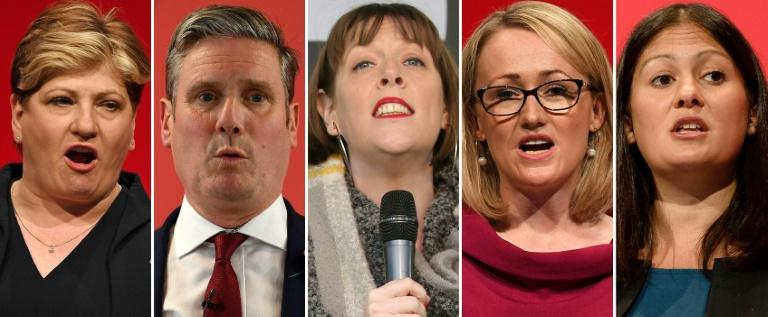 Five MPs are left in the race to take over as leader of the UK's main opposition Labour party (AFP Photo/Daniel LEAL-OLIVAS, Isabel INFANTES, Leon NEAL)