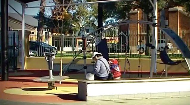 The Liverpool playground whre the toddler was grabbed. Photo: 7 News