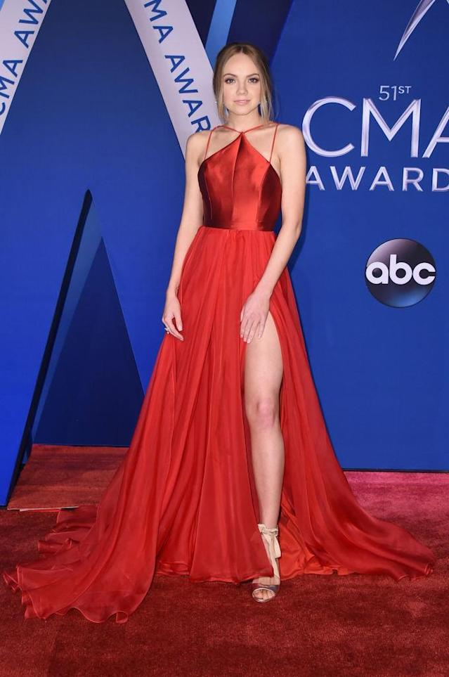 <p>The singer told the Morning Breath that she was walking a certain way on the red carpet so that the dress looks its best. (Photo: Getty Images) </p>