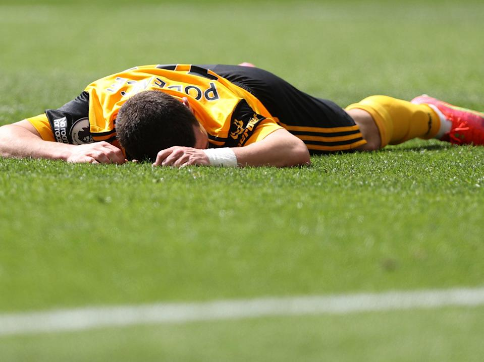 Daniel Podence of Wolves during their 4-0 loss to Burnley (Getty Images)