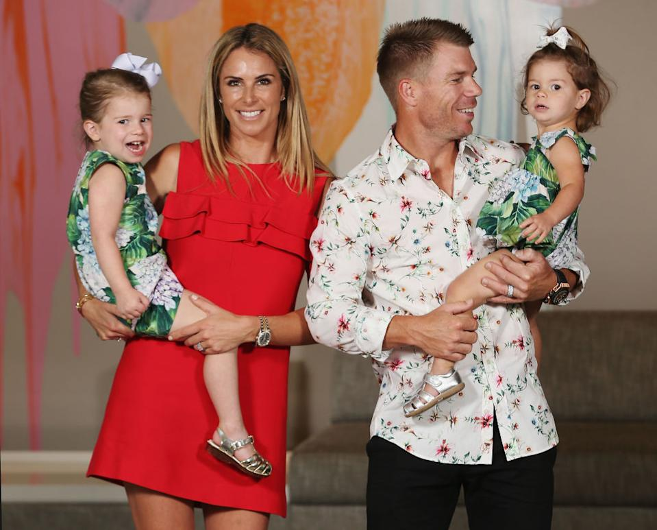 Candice Warner with David warner and daughters Sonny Bill Williams unfair