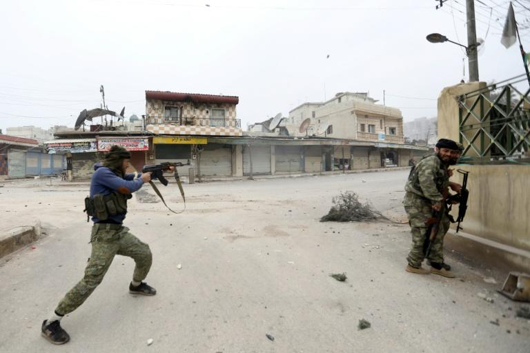 Turkish-backed Syrian rebels seized Thursday control of the town of Jandairis from Kurdish forces in Syria's Afrin region, near the Turkish border
