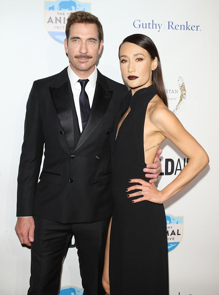 Maggie Q and Dylan McDermott at a WildAid event held in Beverly Hills on Nov. 11. (Photo: Michael Tran/FilmMagic)