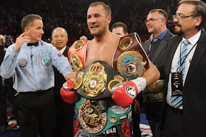 Sergey Kovalev has quite a few belts. (Getty)