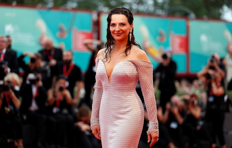 "French actress Juliette Binoche poses at the red carpet for the movie ""The Truth"" (La Verite) presented in competition at the 76th Venice Film Festival, in Venice, Italy, August 28, 2019. REUTERS/Yara Nardi"