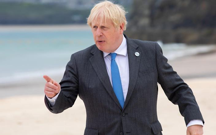 Boris Johnson will hold meetings with four European leaders at the G7 summit in Cornwall on Saturday - Jonny Weeks/WPA Pool/Getty Images