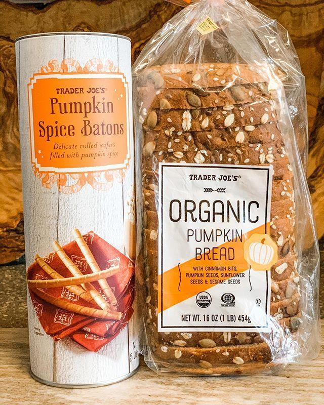 """<p>When you hear pumpkin bread, you probably think of some soft quick bread, but this healthier alternative is filled with seeds and cinnamon bits for a filling breakfast. </p><p>And those pumpkin spice batons next to the loaf? They're the perfect treats with which to stir your PSL. </p><p><a href=""""https://www.instagram.com/p/CE2q3uOACrs/"""" rel=""""nofollow noopener"""" target=""""_blank"""" data-ylk=""""slk:See the original post on Instagram"""" class=""""link rapid-noclick-resp"""">See the original post on Instagram</a></p>"""