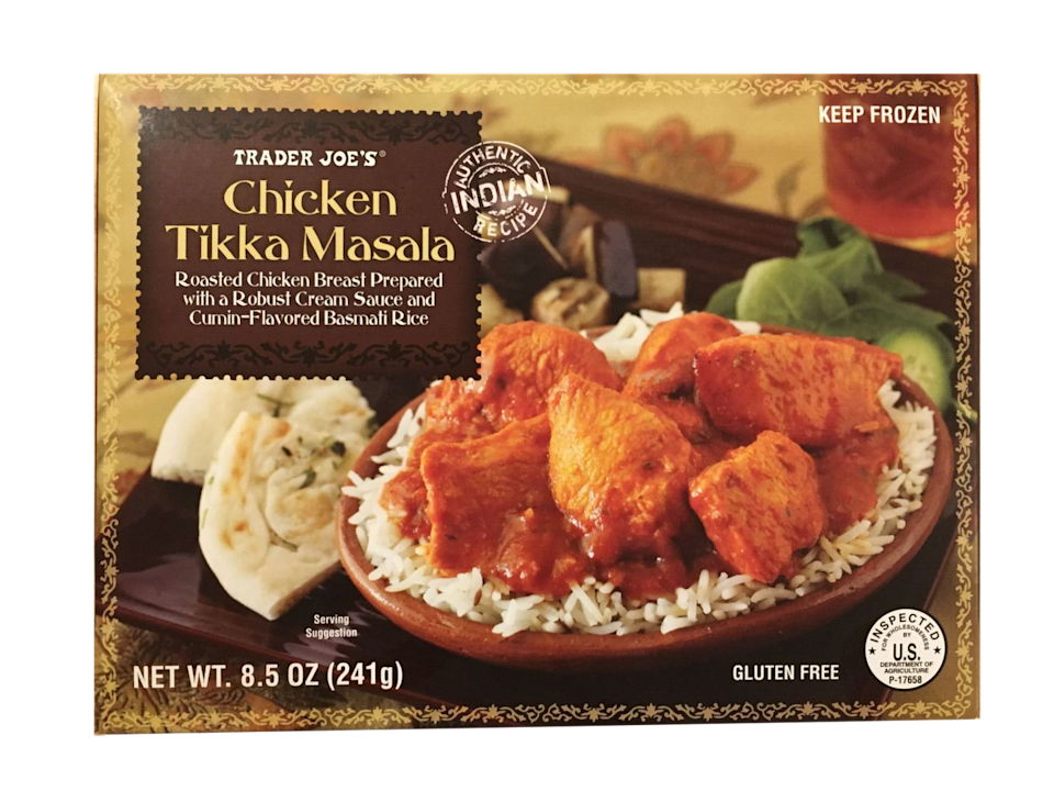 <p><strong>*DRUMROLL*</strong> Coming in first place ... chicken tikka masala! It's truly the gold star of frozen food, and as good, if not better than, any take-out meal you could order. Plus, it's ready in less than five minutes. If you haven't tried it yet, prepare to be obsessed.</p>