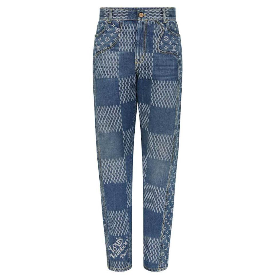 """<p><strong>Louis Vuitton</strong></p><p>louisvuitton.com</p><p><strong>$1620.00</strong></p><p><a href=""""https://us.louisvuitton.com/eng-us/products/damier-giant-waves-monogram-denim-pants-nvprod2220042v"""" rel=""""nofollow noopener"""" target=""""_blank"""" data-ylk=""""slk:Shop Now"""" class=""""link rapid-noclick-resp"""">Shop Now</a></p><p>There's a lot to love about the LV2 collaboration between Virgil Abloh and Nigo, but it's hard to top these multi-printed jeans when it comes to unabashed (and truly huge) vibes. </p>"""