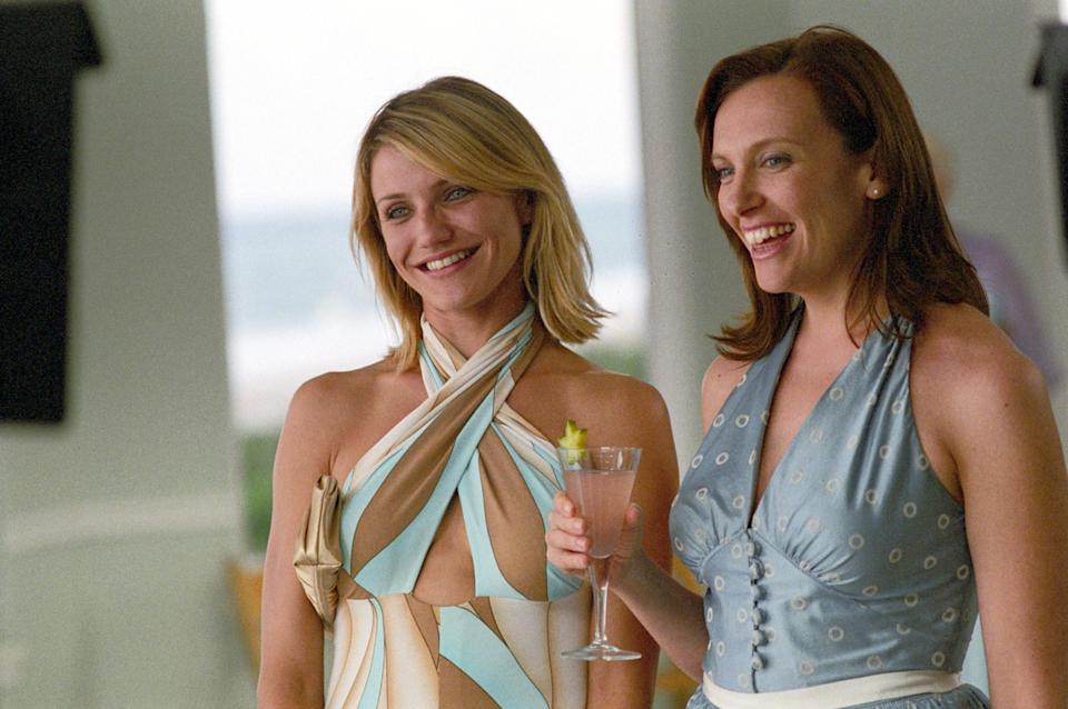 Cameron Diaz and Toni Collette laughing.