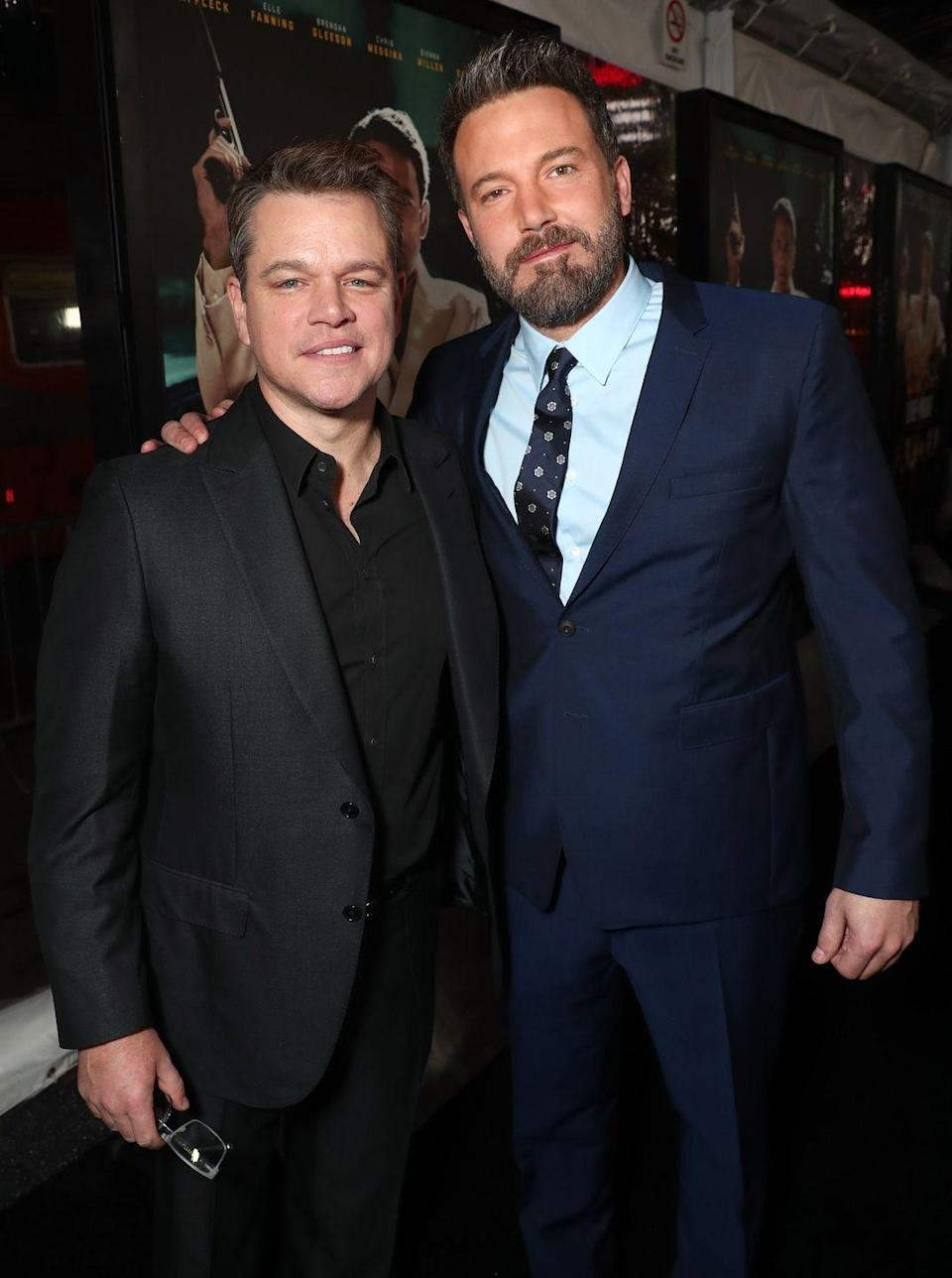 """<p>""""We grew up together….We were both in love with the same thing—acting and filmmaking. I think we fed on each other's obsession during really formative, important years and that bonded us for life."""" — Matt Damon,<em> <a href=""""https://www.etonline.com/movies/193595_matt_damon_on_growing_up_with_ben_affleck_and_why_he_s_glad_his_wife_s_not_famous"""" rel=""""nofollow noopener"""" target=""""_blank"""" data-ylk=""""slk:Entertainment Tonight"""" class=""""link rapid-noclick-resp"""">Entertainment Tonight</a></em></p><p>""""I can't tell you how valuable it is to have somebody who's been through things with you, ups and downs, who knows what your life experience is like, who can identify with that. It's an incredibly valuable friendship and it's very precious."""" — Ben Affleck, <em><a href=""""https://www.etonline.com/ben-affleck-and-matt-damon-team-up-for-first-film-together-in-almost-15-years-107298"""" rel=""""nofollow noopener"""" target=""""_blank"""" data-ylk=""""slk:Entertainment Tonight"""" class=""""link rapid-noclick-resp"""">Entertainment Tonight</a></em></p>"""