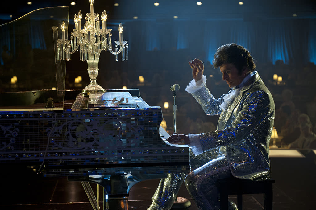"Michael Douglas as Liberace in the HBO Film, ""Behind the Candelabra."""