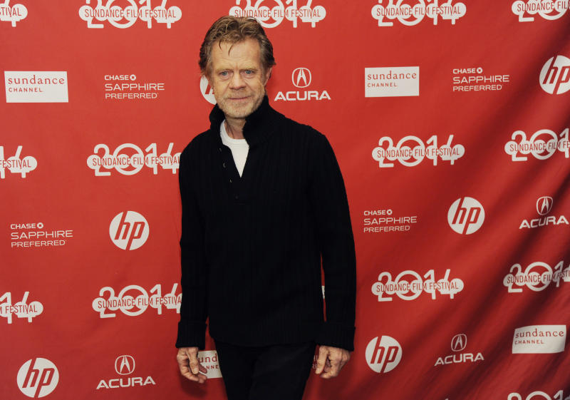 "William H. Macy, writer/director/cast member of ""Rudderless,"" arrives at the premiere of the film at the 2014 Sundance Film Festival, on Friday, Jan. 24, 2014, in Park City, Utah. (Photo by Chris Pizzello/Invision/AP)"