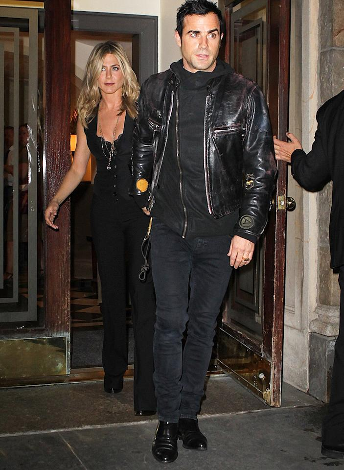 "Jennifer Aniston and Justin Theroux may break up because of his ex, Heidi Bivens, reports OK!. The mag reveals that Aniston's ""abrupt decision to relocate back to L.A."" was to get ""Justin away from Heidi,"" because he was ""still carrying on"" with her in New York. For the ultimatum Aniston gave Theroux, and whether they'll split, log on to <a target=""_blank"" href=""http://www.gossipcop.com/jennifer-aniston-justin-theroux-fighting-heidi-bivens-may-2012/"">Gossip Cop</a>."