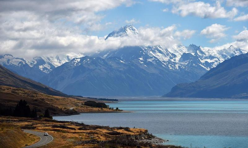 The South Island of New Zealand, where the package was sent.
