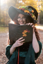 """<p><a href=""""https://www.oprahmag.com/life/g33224975/book-character-costumes/"""" rel=""""nofollow noopener"""" target=""""_blank"""" data-ylk=""""slk:Book lovers"""" class=""""link rapid-noclick-resp"""">Book lovers</a> might want to consider this good witch. It's a sophisticated, refined look rich with the season's colors. To make the hat and the book, just super glue fall foliage onto a witch hat and a leather-bound tome. </p><p><a class=""""link rapid-noclick-resp"""" href=""""https://www.amazon.com/Leg-Avenue-Womens-Large-Ruched/dp/B00JSJSTK2?tag=syn-yahoo-20&ascsubtag=%5Bartid%7C10072.g.33534666%5Bsrc%7Cyahoo-us"""" rel=""""nofollow noopener"""" target=""""_blank"""" data-ylk=""""slk:SHOP WITCH HAT"""">SHOP WITCH HAT</a></p><p><a class=""""link rapid-noclick-resp"""" href=""""https://www.amazon.com/Leather-Village-Vintage-Notebook-Leather-journaling-calligraphy/dp/B07N7JHQ21?tag=syn-yahoo-20&ascsubtag=%5Bartid%7C10072.g.33534666%5Bsrc%7Cyahoo-us"""" rel=""""nofollow noopener"""" target=""""_blank"""" data-ylk=""""slk:SHOP LEATHER JOURNAL"""">SHOP LEATHER JOURNAL</a></p><p><a class=""""link rapid-noclick-resp"""" href=""""https://www.amazon.com/Supla-Assorted-Artificial-Thanksgiving-Decorations/dp/B07FSHV1H6?tag=syn-yahoo-20&ascsubtag=%5Bartid%7C10072.g.33534666%5Bsrc%7Cyahoo-us"""" rel=""""nofollow noopener"""" target=""""_blank"""" data-ylk=""""slk:SHOP FAUX MAPLE LEAVES"""">SHOP FAUX MAPLE LEAVES</a></p><p><a class=""""link rapid-noclick-resp"""" href=""""https://www.amazon.com/Pashmina-Cashmere-Scarves-Stylish-Blanket/dp/B07H7F2Z79?tag=syn-yahoo-20&ascsubtag=%5Bartid%7C10072.g.33534666%5Bsrc%7Cyahoo-us"""" rel=""""nofollow noopener"""" target=""""_blank"""" data-ylk=""""slk:SHOP PASHMINA"""">SHOP PASHMINA</a></p>"""