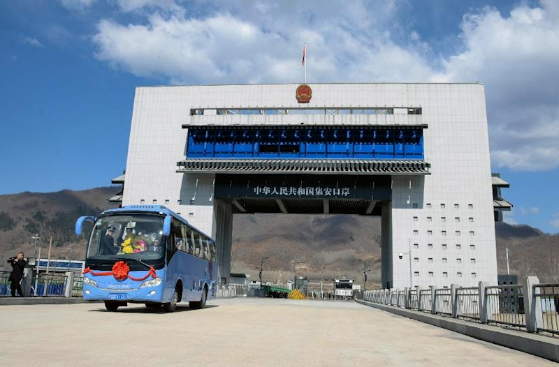 A new highway border crossing between China and North Korea has opened in Ji'an (AFP Photo/)