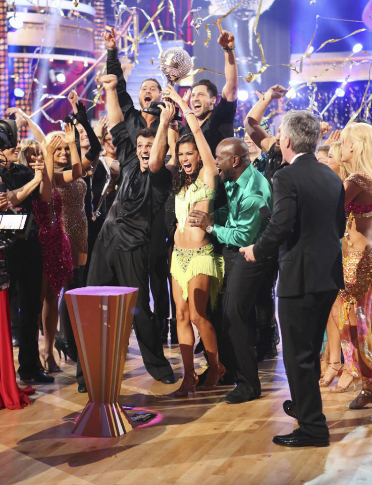 "Melissa Rycroft and Tony Dovolani were crowned champions of this all-star season, on the Season Finale of ""Dancing with the Stars: All-Stars."""
