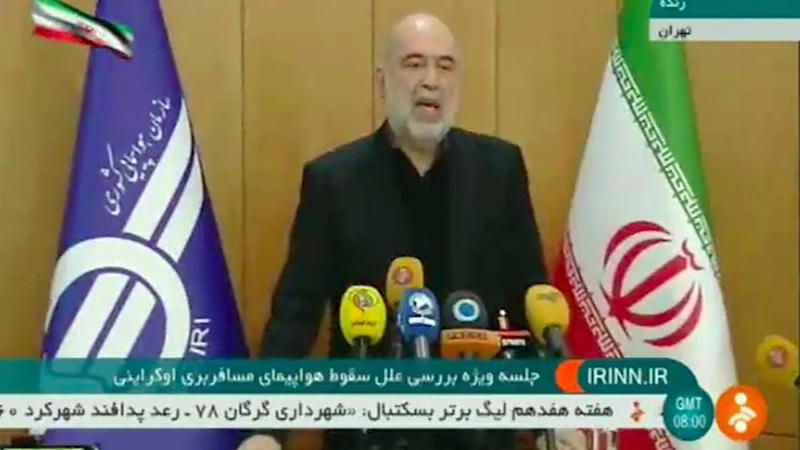Iran's civil aviation chief Ali Abedzadeh wants evidence about the downed plane to be shared