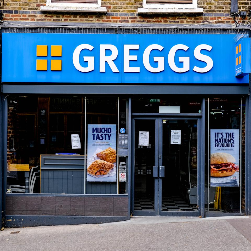 London, UK, May 27, 2020, Greggs High Street Food Take Out Bakers Planning To Open Stores After UK Coronavirus COVID-19 Lockdown