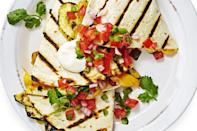"<p>The secret to extra-melty quesadillas? Velveeta. Grill all the peppers and summer squash before folding in with the cheese for extra smokiness. </p><p><a href=""https://www.goodhousekeeping.com/food-recipes/a33632/smoky-veggie-quesadillas/"" rel=""nofollow noopener"" target=""_blank"" data-ylk=""slk:Get the recipe for Smoky Veggie Quesadillas »"" class=""link rapid-noclick-resp""><em>Get the recipe for Smoky Veggie Quesadillas »</em></a> </p>"
